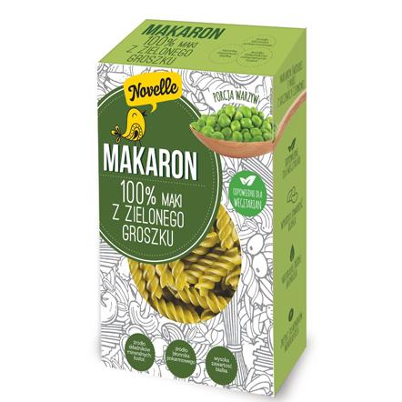 makaron 100% z m膮ki z zielonego groszku