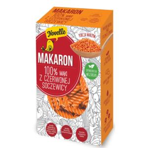 makaron 100% mąki z czerwonej soczewicy