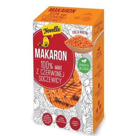 makaron 100% m膮ki z czerwonej soczewicy