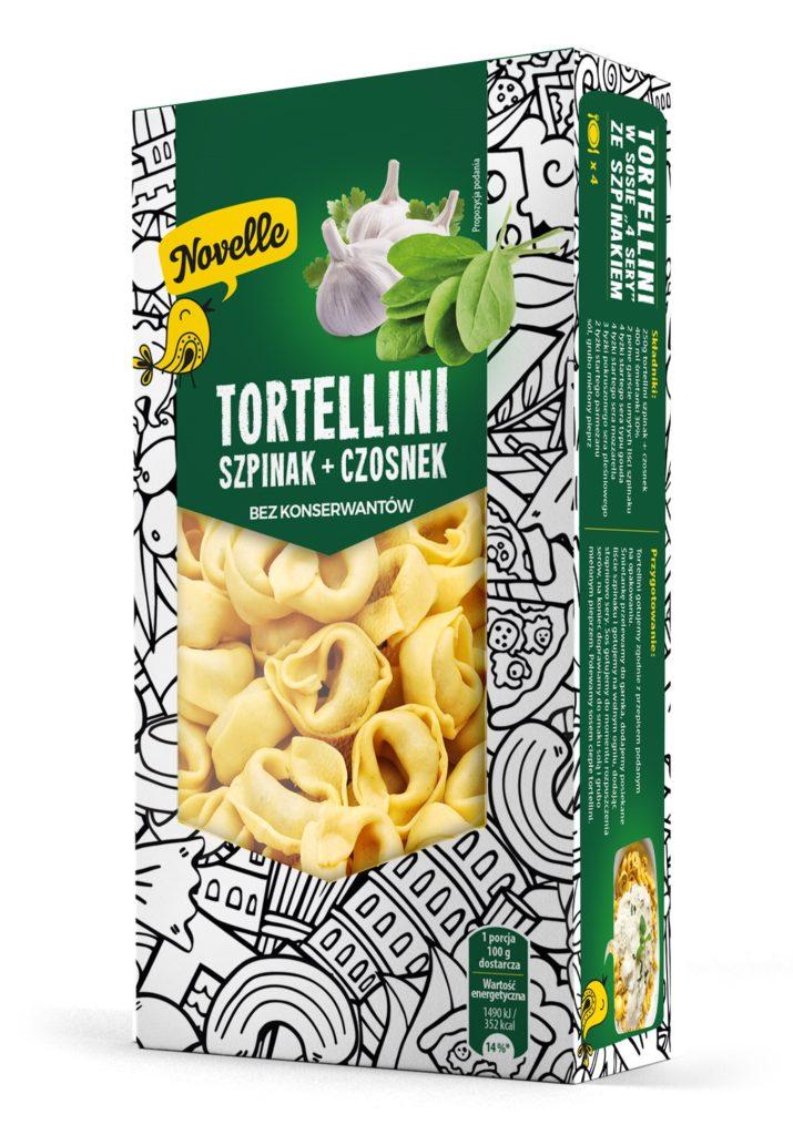 tortellini czosnek ze szpinakiem